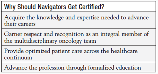 Certification: A Win/Win for Navigators, Employers, and Patients